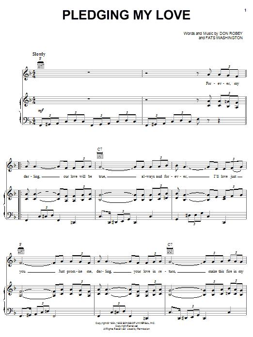 Emmylou Harris Pledging My Love sheet music notes printable PDF score