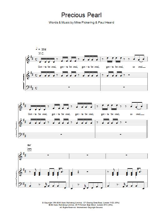 M People Precious Pearl sheet music notes printable PDF score