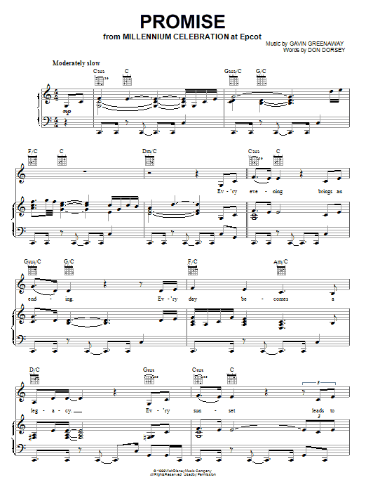 Kellie Coffey Promise sheet music notes printable PDF score