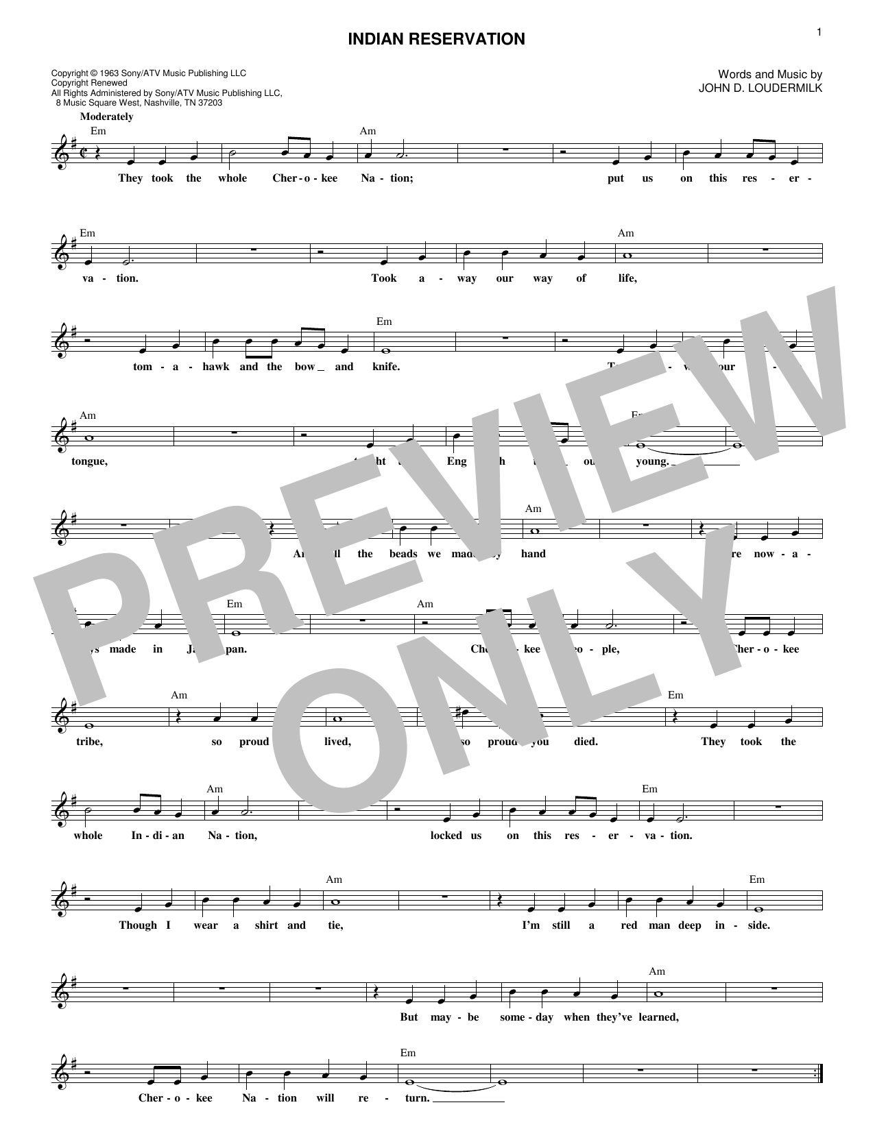 Raiders Indian Reservation sheet music notes and chords. Download Printable PDF.