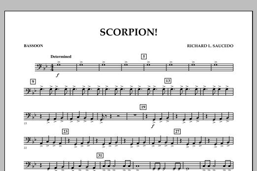 Richard L. Saucedo Scorpion! - Bassoon sheet music notes and chords. Download Printable PDF.