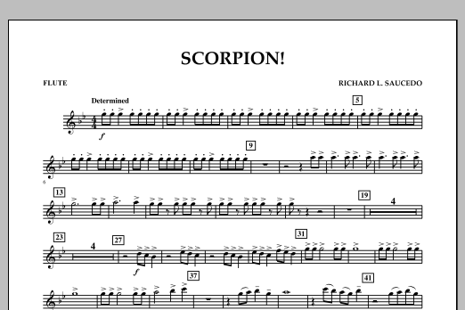 Richard L. Saucedo Scorpion! - Flute sheet music notes and chords. Download Printable PDF.
