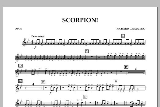 Richard L. Saucedo Scorpion! - Oboe sheet music notes and chords. Download Printable PDF.
