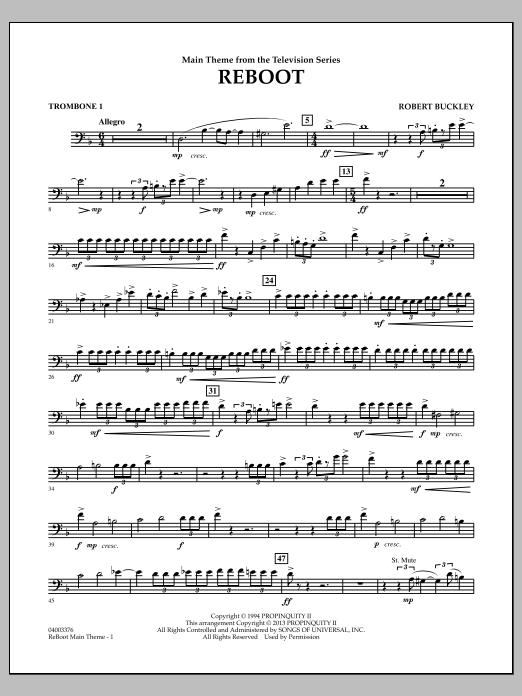 Robert Buckley Reboot - Trombone 1 sheet music notes and chords. Download Printable PDF.