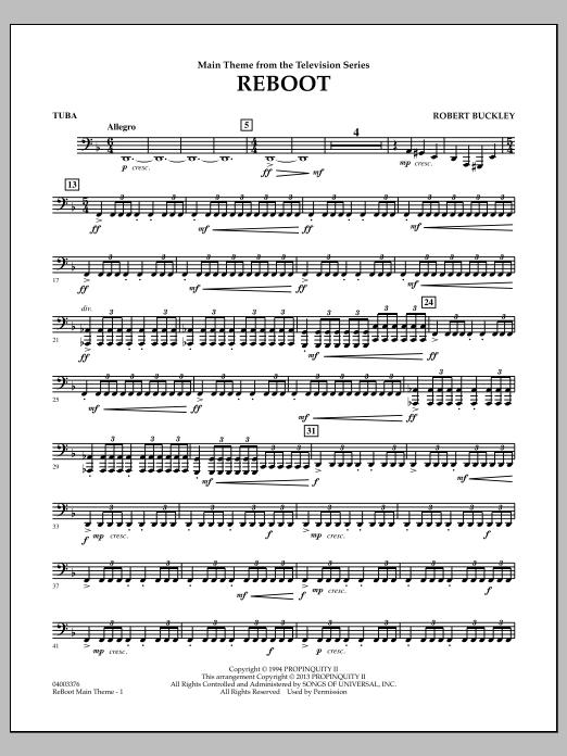 Robert Buckley Reboot - Tuba sheet music notes and chords. Download Printable PDF.