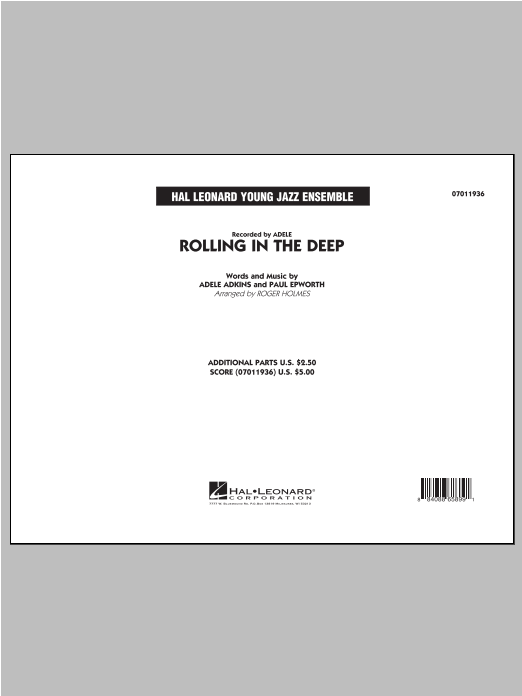 Roger Holmes Rolling in the Deep - Full Score sheet music notes printable PDF score