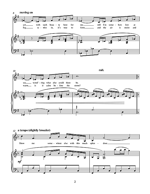 Charles Miller & Kevin Hammonds Sail Me There (from Hope) sheet music notes printable PDF score