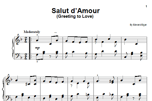 Edward Elgar Salut D'Amour sheet music notes printable PDF score