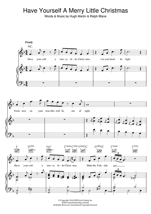 Sam Smith Have Yourself A Merry Little Christmas sheet music notes and chords. Download Printable PDF.