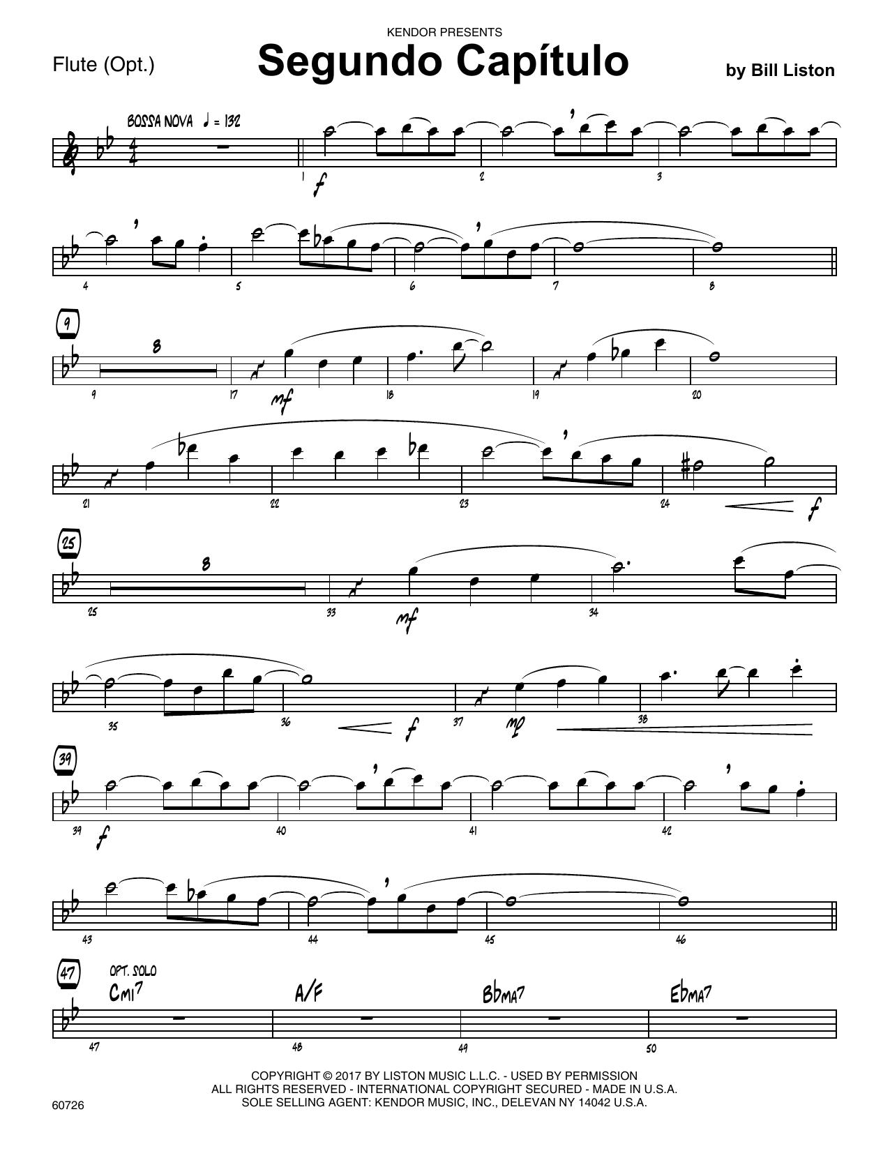 Bill Liston Segundo Capitulo - Flute sheet music notes printable PDF score
