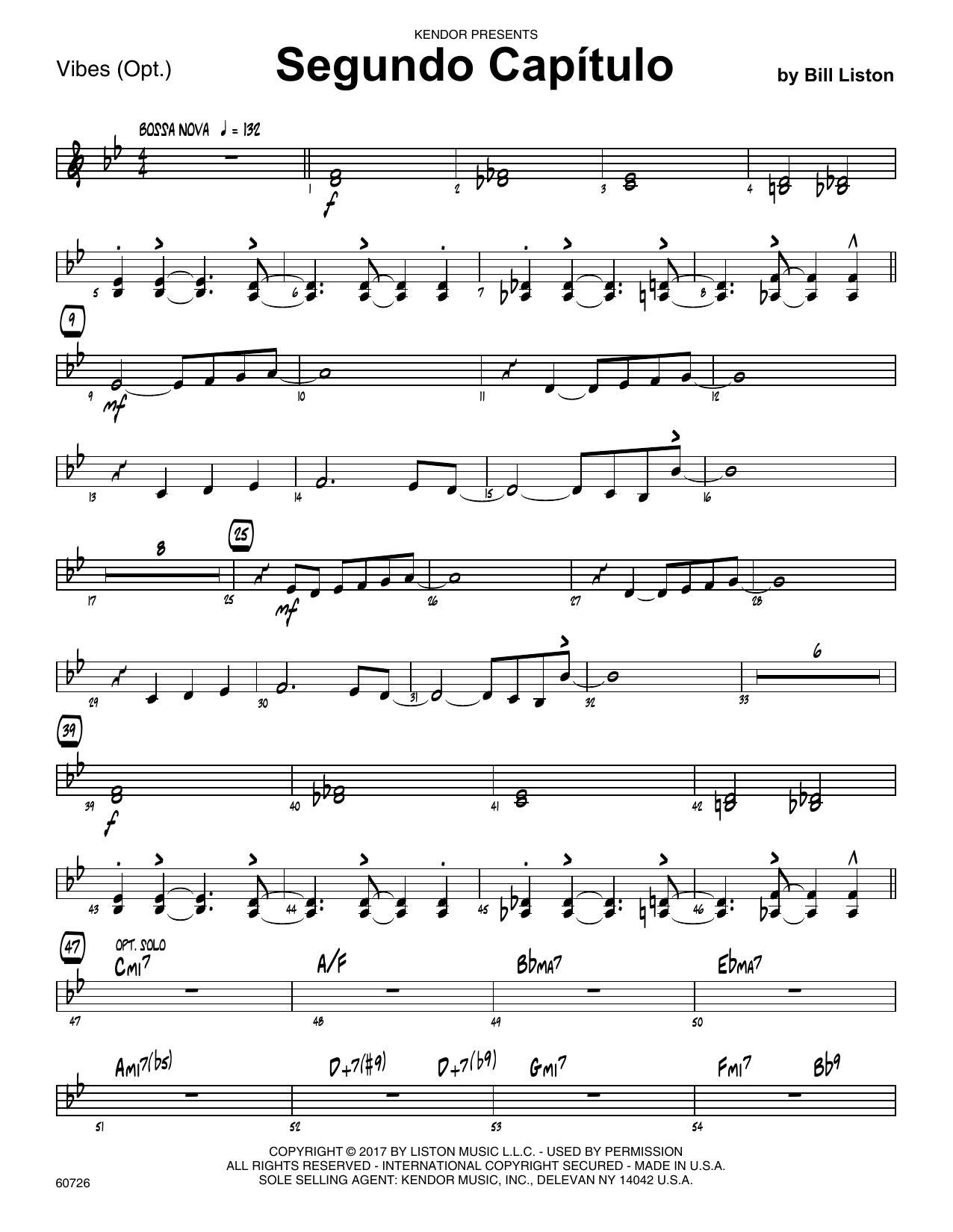 Bill Liston Segundo Capitulo - Vibes sheet music notes printable PDF score