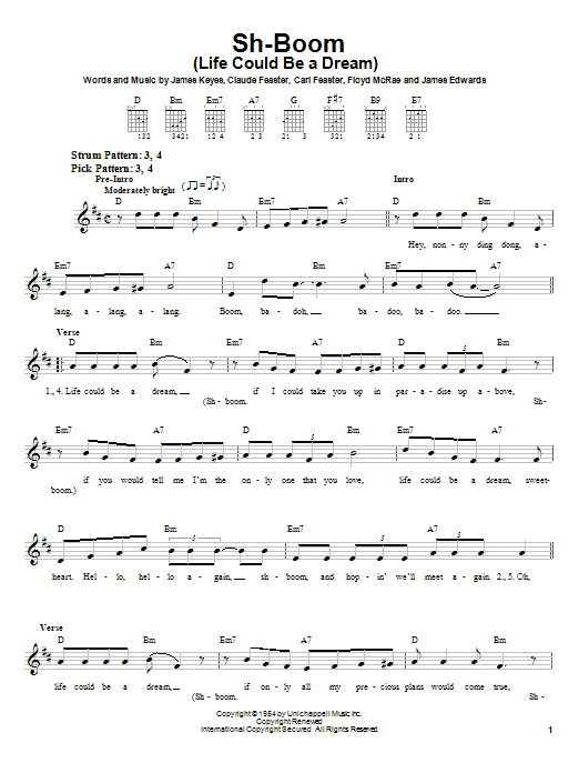 The Crew-Cuts Sh-Boom (Life Could Be A Dream) sheet music notes printable PDF score
