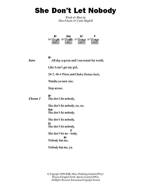 Chaka Demus & Pliers She Don't Let Nobody sheet music notes printable PDF score