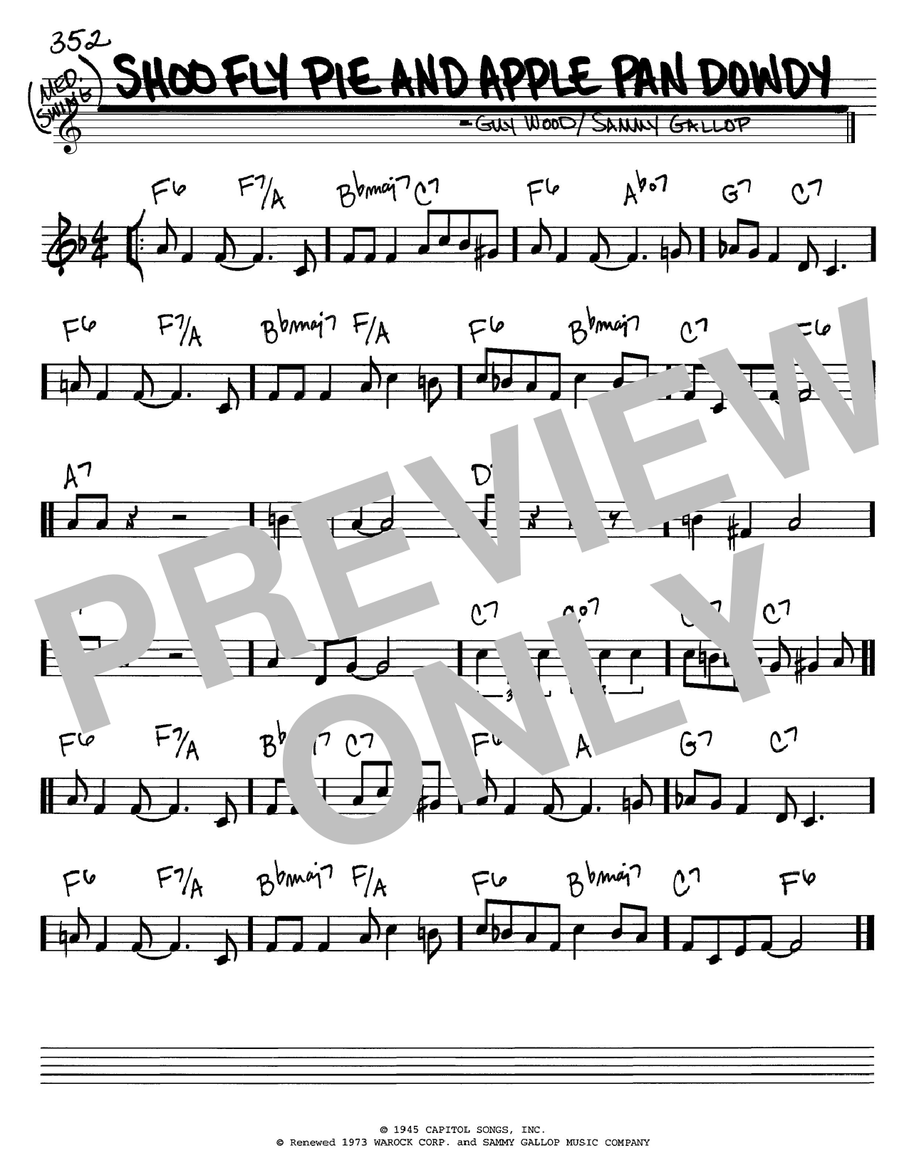 Sammy Gallop Shoo Fly Pie And Apple Pan Dowdy sheet music notes printable PDF score
