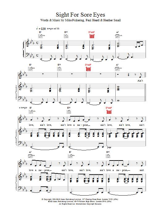 M People Sight For Sore Eyes sheet music notes printable PDF score