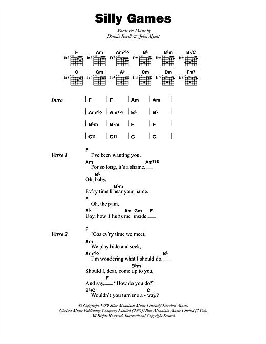 Janet Kay Silly Games sheet music notes printable PDF score
