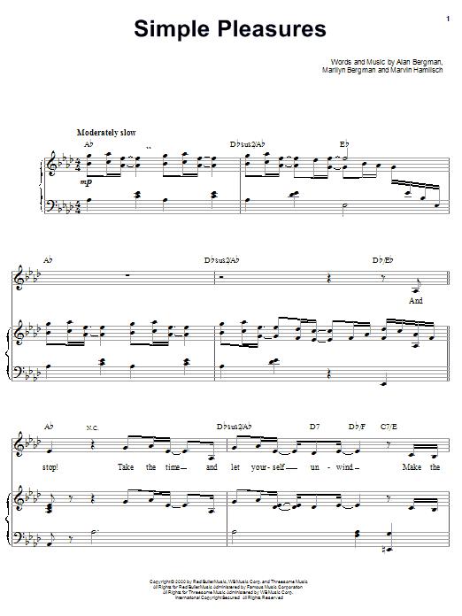 Barbra Streisand Simple Pleasures sheet music notes printable PDF score