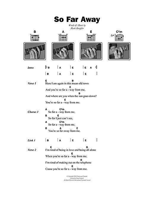 Dire Straits So Far Away sheet music notes printable PDF score