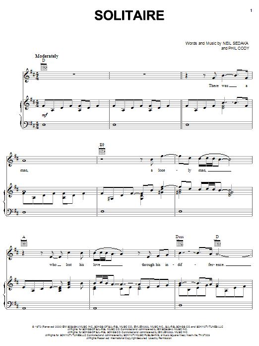 Clay Aiken Solitaire sheet music notes printable PDF score