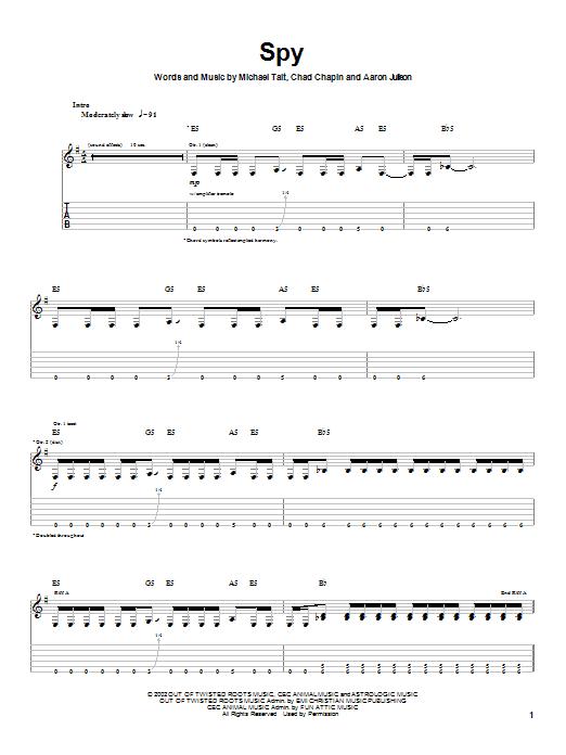 Tait Spy sheet music notes printable PDF score