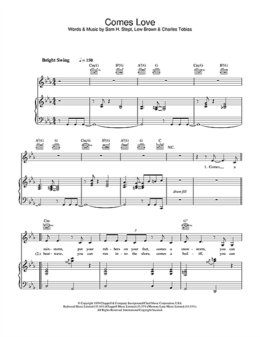 Stacey Kent Comes Love sheet music notes and chords. Download Printable PDF.