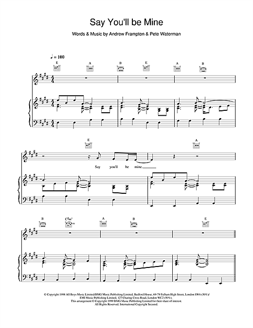 Steps Say Youll Be Mine sheet music notes printable PDF score