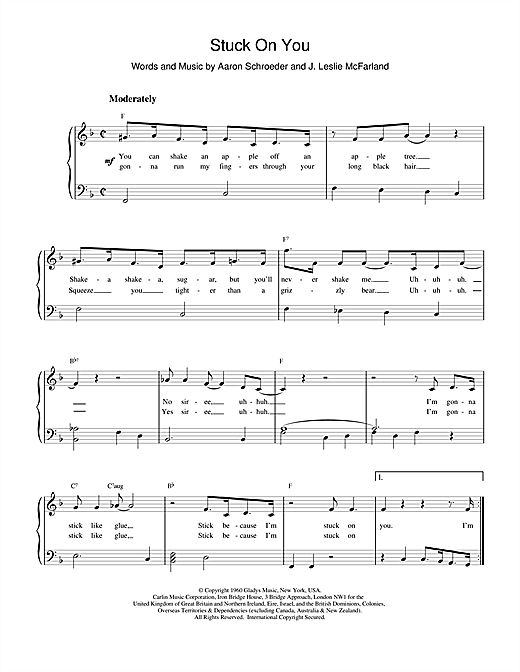 Elvis Presley Stuck On You sheet music notes printable PDF score