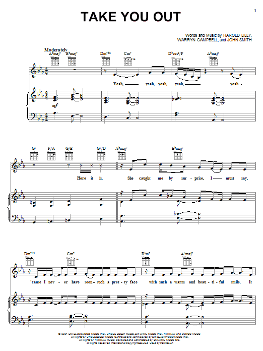 Luther Vandross Take You Out sheet music notes printable PDF score