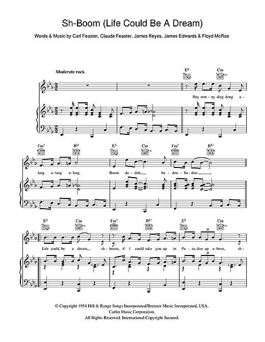 The Crew Cuts Sh-boom (Life Could Be A Dream) sheet music notes and chords. Download Printable PDF.