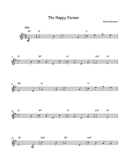 Robert Schumann The Happy Farmer sheet music notes printable PDF score