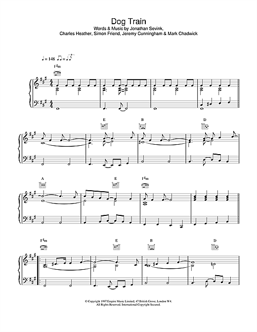 The Levellers Dog Train sheet music notes printable PDF score