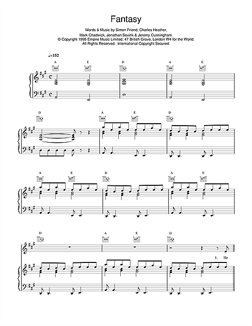 The Levellers Fantasy sheet music notes printable PDF score