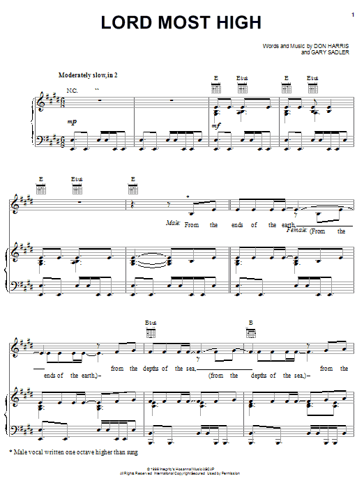 The Martins Lord Most High sheet music notes and chords. Download Printable PDF.