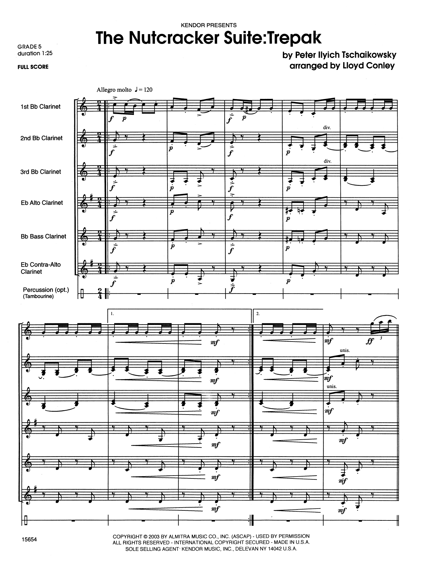 Lloyd Conley The Nutcracker Suite: Trepak - Full Score sheet music notes printable PDF score