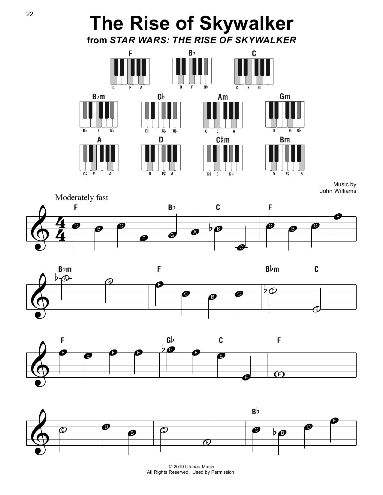 John Williams The Rise of Skywalker sheet music notes printable PDF score
