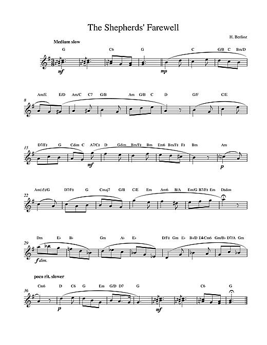 Hector Berlioz The Shepherds Farewell sheet music notes printable PDF score