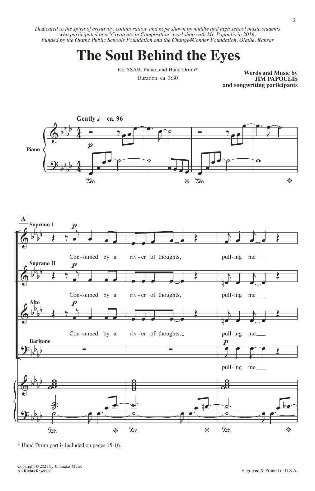 Jim Papoulis The Soul Behind The Eyes sheet music notes printable PDF score