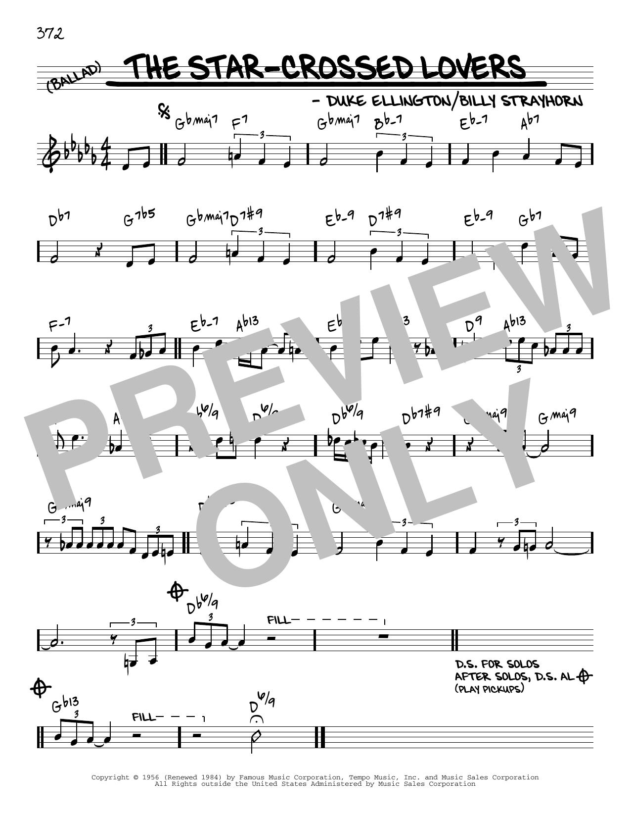 Duke Ellington The Star-Crossed Lovers [Reharmonized version] (arr. Jack Grassel) sheet music notes printable PDF score