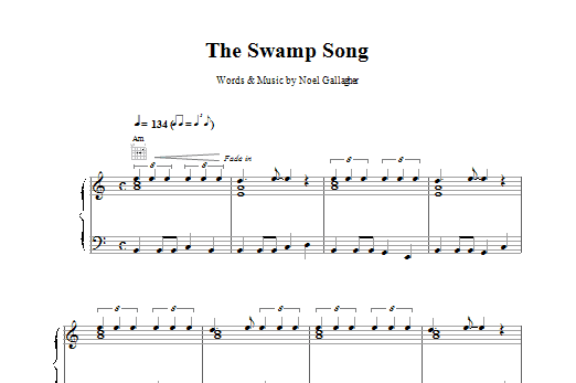 Oasis The Swamp Song sheet music notes printable PDF score