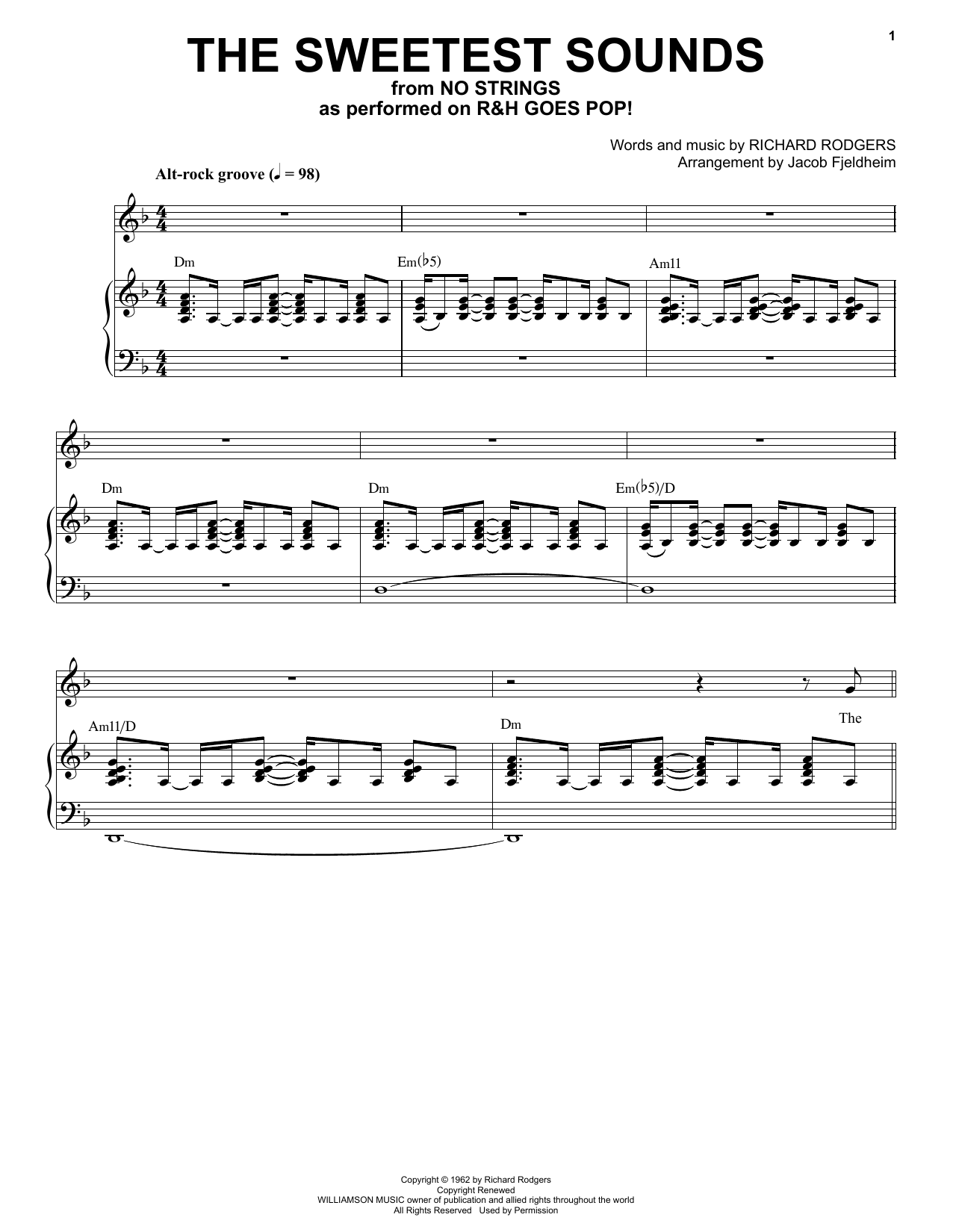 Richard Rodgers The Sweetest Sounds [R&H Goes Pop! version] (from No Strings) sheet music notes printable PDF score