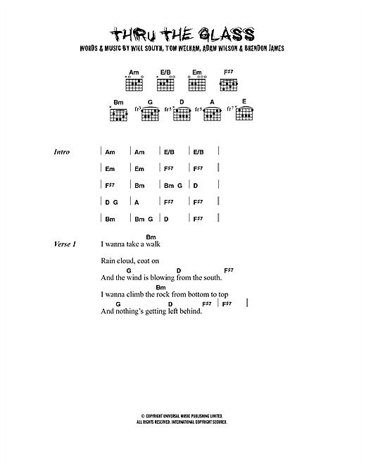 Thirteen Senses Thru The Glass sheet music notes printable PDF score
