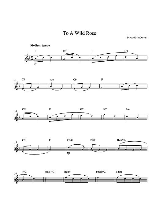 Edward MacDowell To A Wild Rose sheet music notes printable PDF score