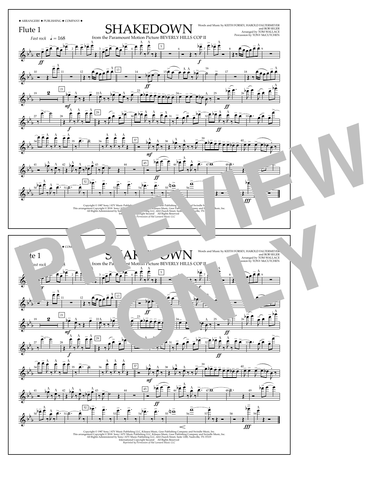 Tom Wallace Shakedown - Flute 1 sheet music notes and chords. Download Printable PDF.