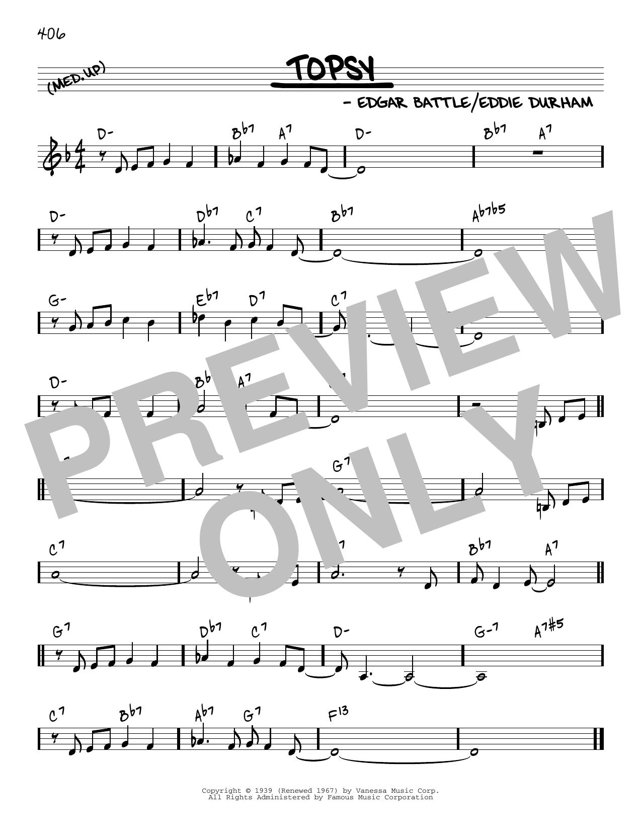 Cozy Cole Topsy [Reharmonized version] (arr. Jack Grassel) sheet music notes printable PDF score