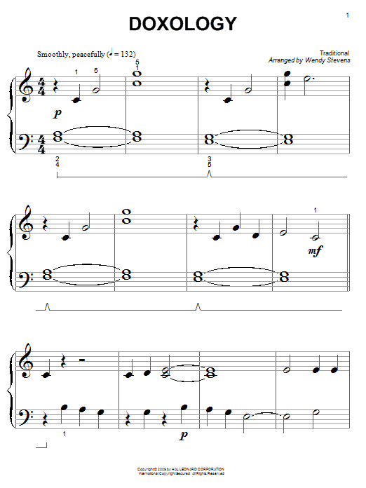 Traditional Doxology sheet music notes and chords. Download Printable PDF.