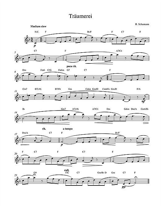 Robert Schumann Traumerei Op.15 No.7 sheet music notes printable PDF score