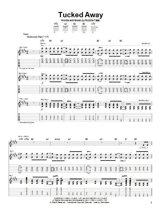 Goo Goo Dolls Tucked Away sheet music notes printable PDF score