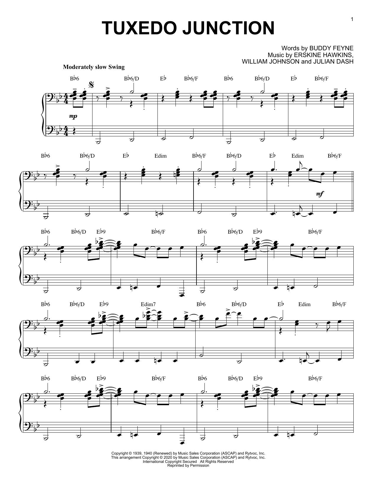 Buddy Feyne Tuxedo Junction [Jazz version] (arr. Brent Edstrom) sheet music notes printable PDF score