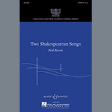 Ned Rorem Two Shakespearean Songs Sheet Music and Printable PDF Score   SKU 74180