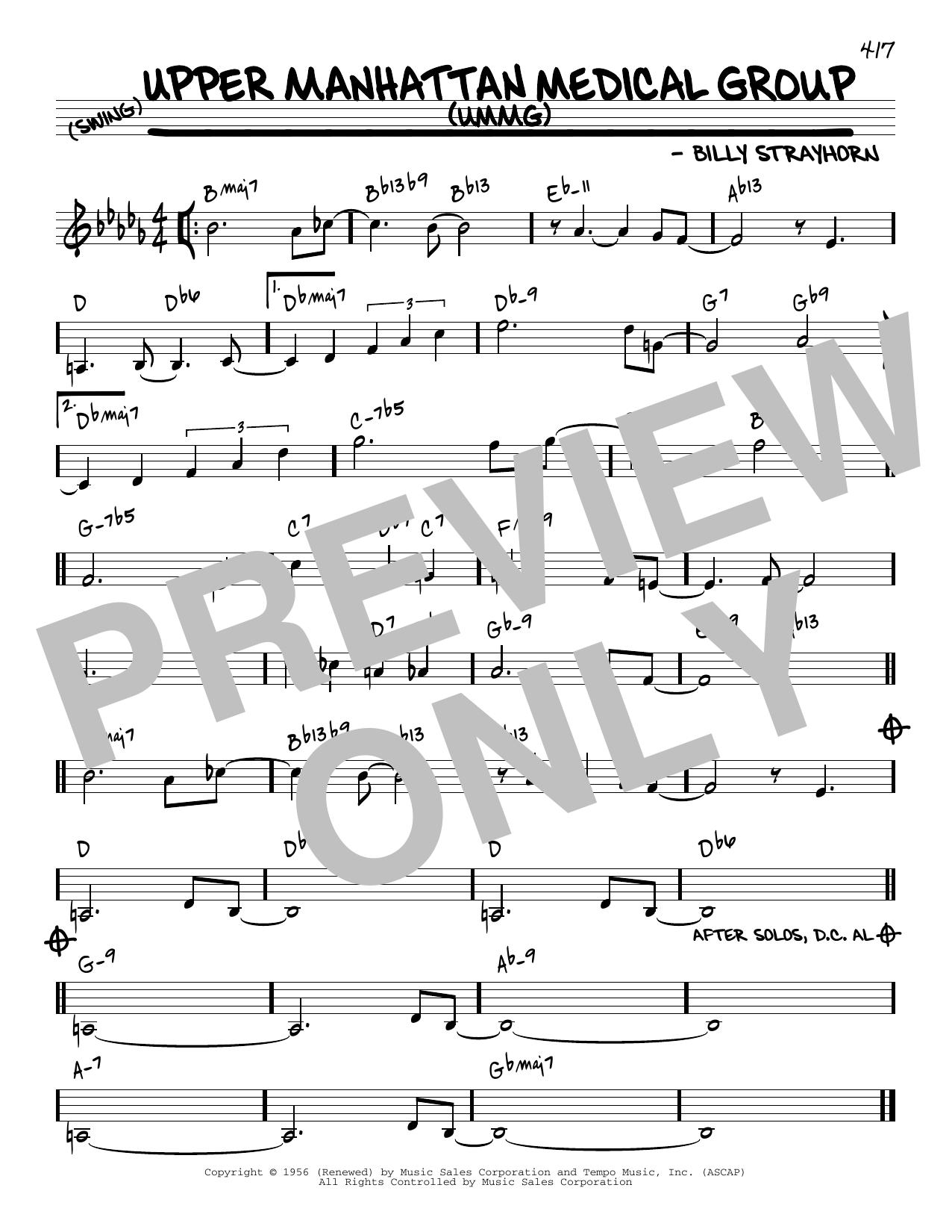 Billy Strayhorn Upper Manhattan Medical Group (UMMG) [Reharmonized version] (arr. Jack Grassel) sheet music notes printable PDF score